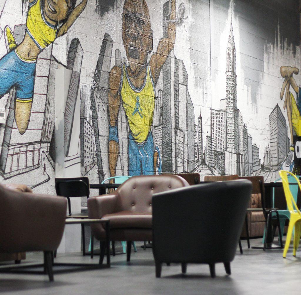 d co graffiti trampoline d co graffiti centre de loisir urban art d co. Black Bedroom Furniture Sets. Home Design Ideas
