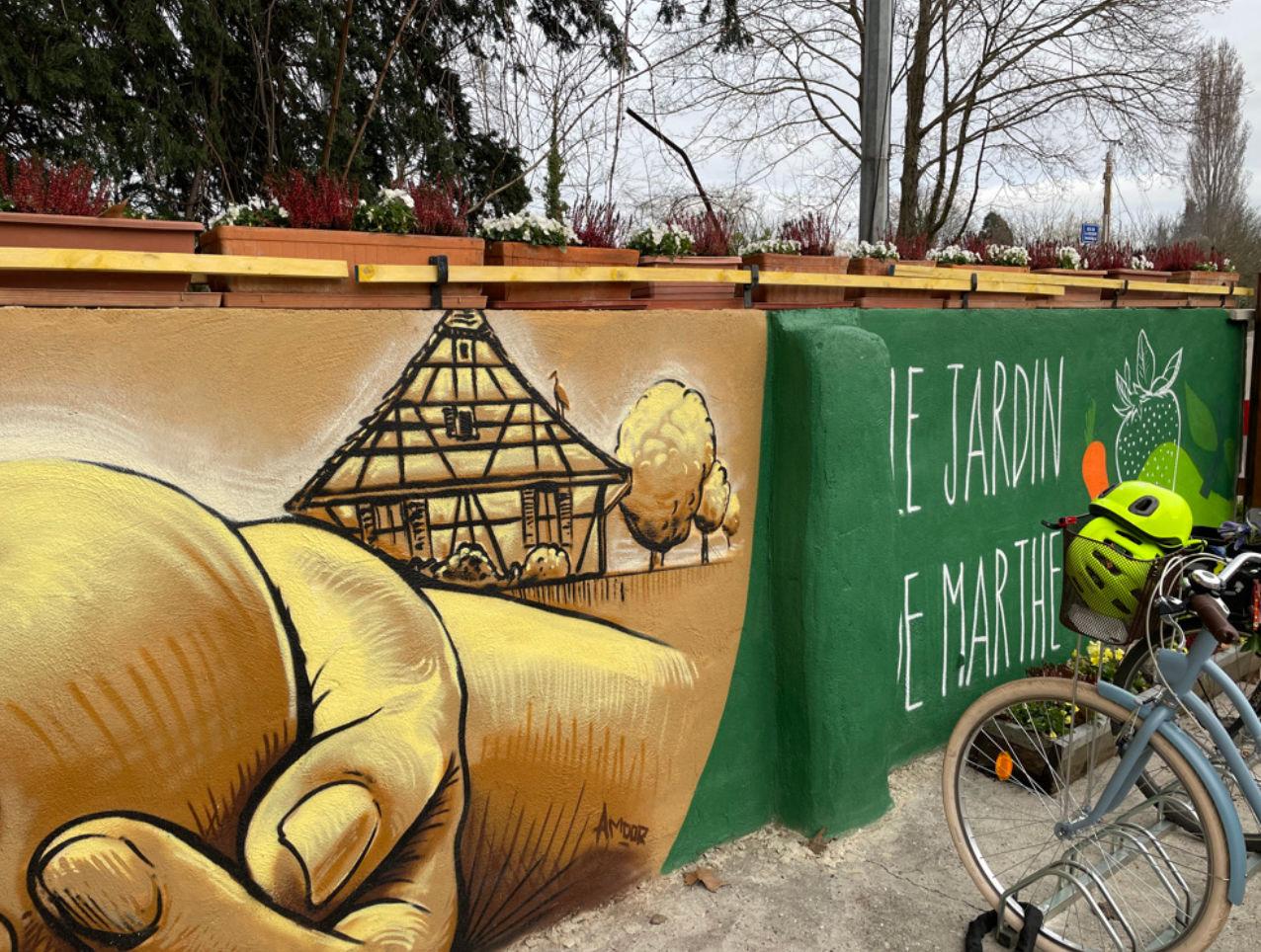 fresque déco bio nature peinture art urbain graffiti street art